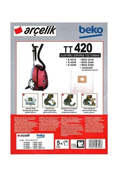 Arçelik : S4210-s4240-s4250 5 Adet Bez Süpürge Torbası