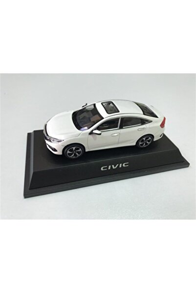 Dekis Garaj Beyaz Honda Civic Sedan Fc5 Model Araba Diecast