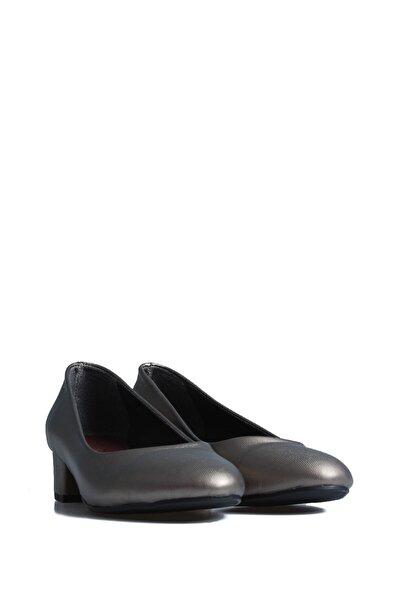 PUNTO Kadın Siyah  Platin Günlük Topuklu Ayakkabı 544718
