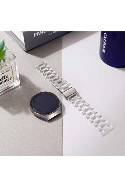 Nezih Case Kordon/kayış Samsung Galaxy Watch Active 2 44mm Uyumlu Sert Plastik Baklalı Tasarım Şeffaf