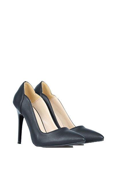 PUNTO Kadın Siyah Günlük Topuklu Ayakkabı 553006