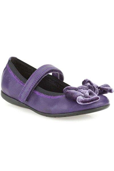 CLARKS Kız Çocuk Mor Rahat Bale Tarzı Ayakkabı