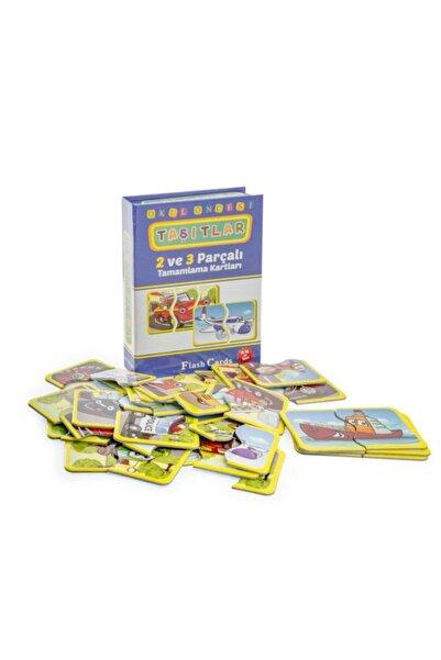 DIY Toys Taşıtlar Tamamlama Kartları 2-3 Parça