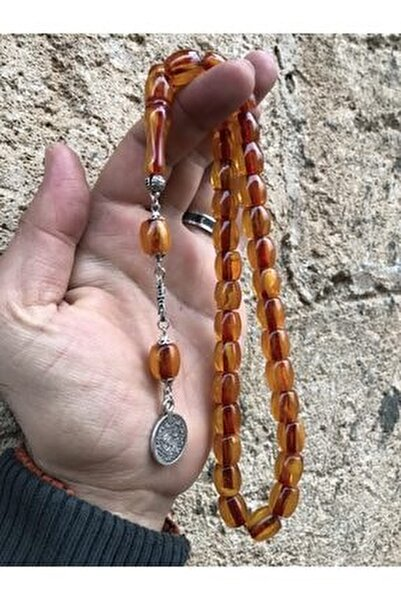 Kapsül Kesim Sarı Renk Iran Bağası Toz Kehribar Tesbih
