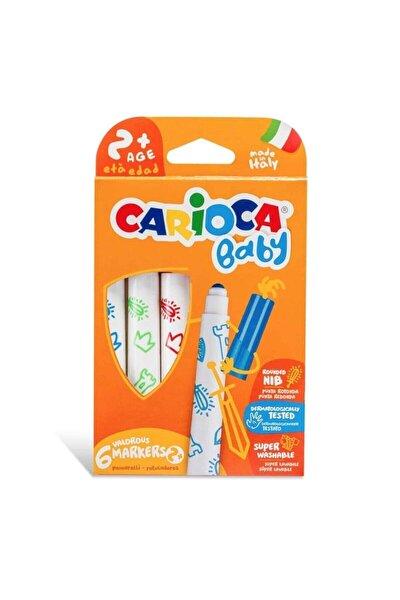 CARIOCA Baby Süper Yıkanabilir Jumbo Keçeli Boya Kalemi 6 Lı