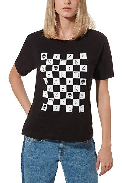 Vans Kadın Spor T-Shirt - DARK ARTS BOXY TEE - VN0A47UIUXC1