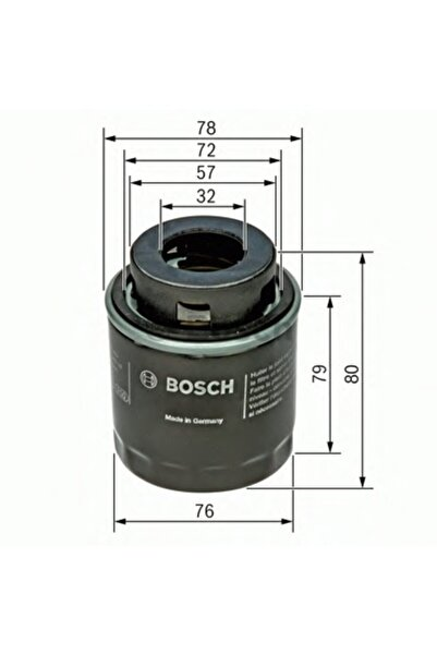 Bosch Yağ Filtresi - Seat Altea - 1.4 Tsı-92 Kw 2007 - 2014