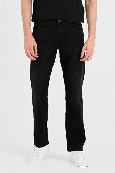 Loft Regular Fit Normal Paça Siyah Kot Pantolon