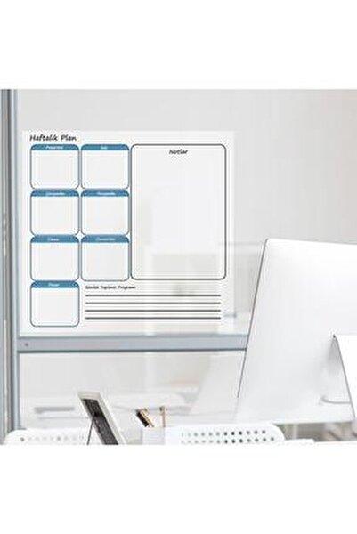 Haftalık Planlayıcı Takvim Çizelgesi Kağıt Tahta + Doldurulabilir Silgili Beyaz Tahta Kalemi