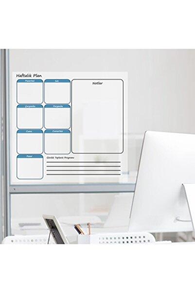 Cengo Haftalık Planlayıcı Takvim Çizelgesi Kağıt Tahta + Doldurulabilir Silgili Beyaz Tahta Kalemi