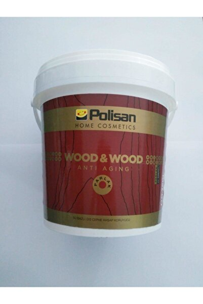 Polisan Wood & Wood Anti Agıng Ahşap Verniği Parlak Su Bazlı 0,75 Lt