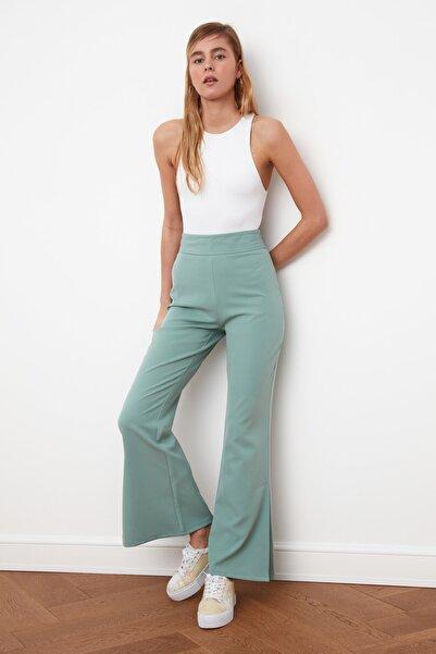 TRENDYOLMİLLA Mint Yırtmaçlı Pantolon TWOSS21PL0219