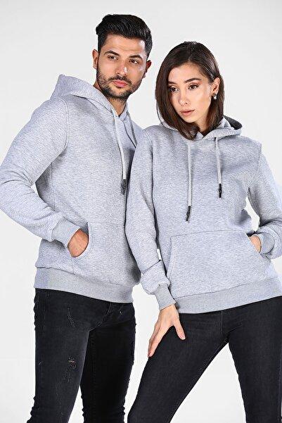 Terrenova Gri 2 Kapüşonlu Sweatshirt Sevgili Kombin Satış Fiyatı 1 Adet Fiyatıdır