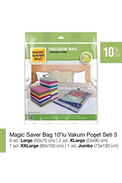 Magic Saver Bag Magıc Saver Bag 10'lu Vakumlu Poşet Seti 3