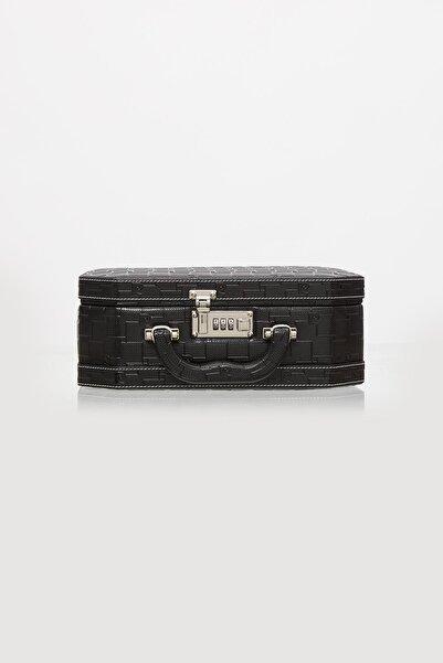 Pierre Cardin Deri Kaplamalı, Şifreli, Aynalı Tıraş & Makyaj & Takı Kutusu - 560