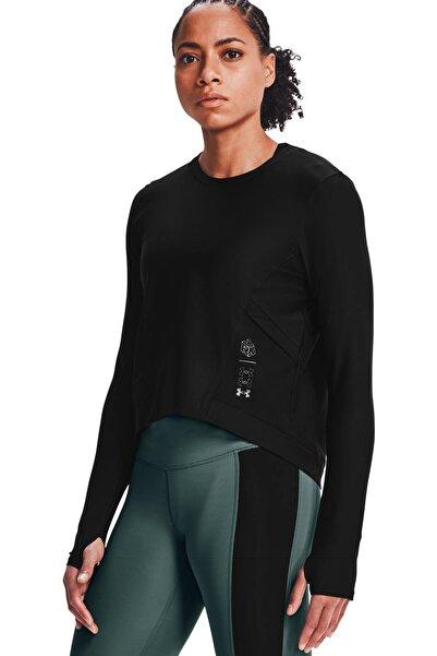 Under Armour Kadın Spor T-Shirt - Ua Run Anywhere Cropped Ls - 1359797-001