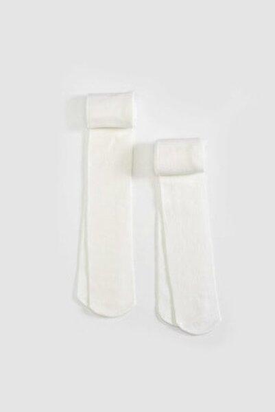 Kız Çocuk Parlak Beyaz Jyx Çorap