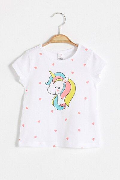 LC Waikiki Kız Bebek Optik Beyaz E5X T-Shirt
