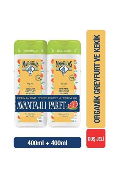 Le Petit Marseillais Organik Greyfurt ve Kekik Duş Jeli 1+1 Avantajlı Paket 400 ml