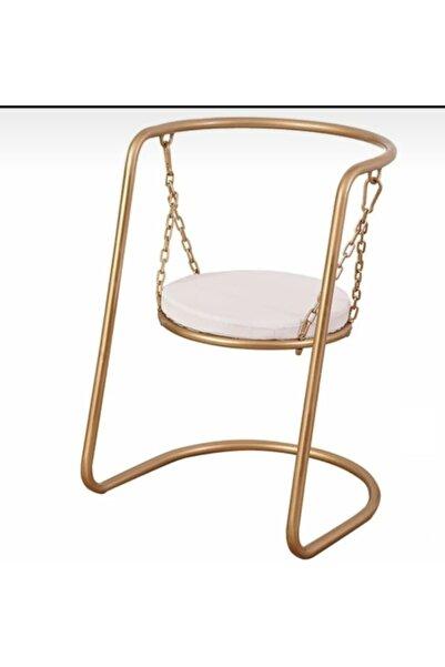 HAR DESİGN Metal Salıncak Sandalye Puf