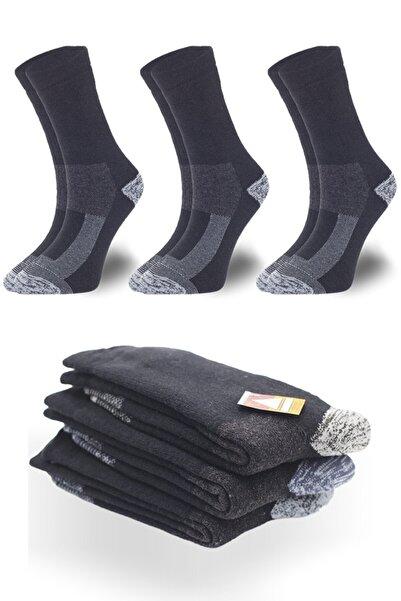 topsocks Unisex Siyah Sıcak Termal Yünlü Çorap 3'lü