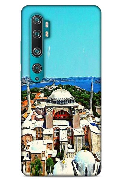 Lopard Xiaomi Mi Note 10 Kılıf Dünya Mimarisi (10) Full Koruma Kılıfı Ayasofya