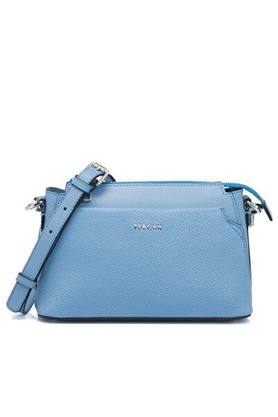 Tergan Mavi Deri Kadın Çanta 79471l5ı