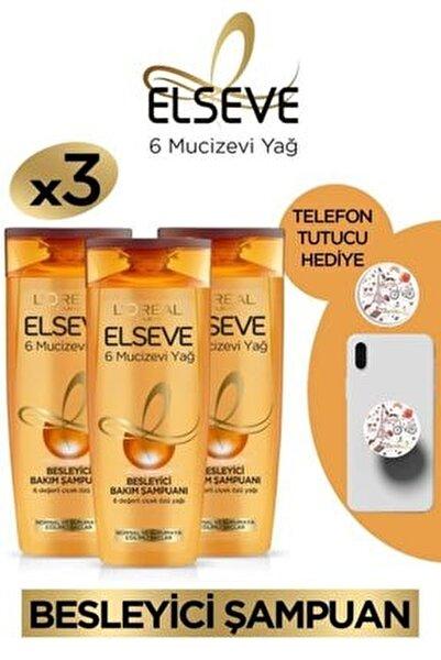 3'lü 6 Mucizevi Yağ Besleyici Bakım Şampuanı 450 Ml Seti Telefon Tutucu Hediyeli