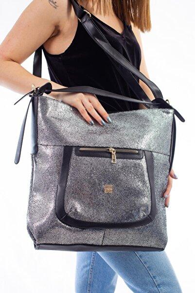 Limoya Bags Kadın Gümüş El Ve Omuz Çantası