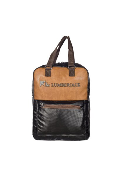 lumberjack Lm7389 Siyah-kahve Unısex Sırt Çantası