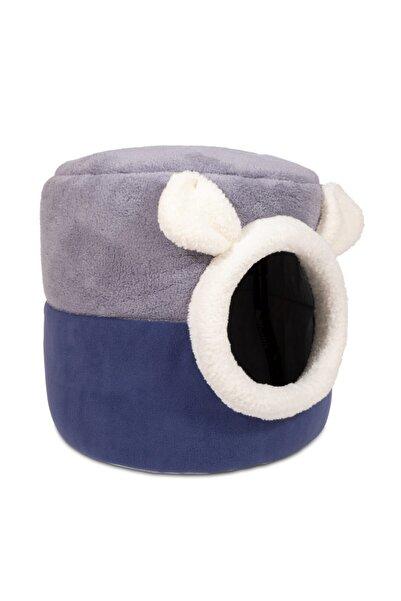 Nerotex Mavi Gri Kutu Kedi Yatağı Yuvası Yıkanabilir 40x40 Cm