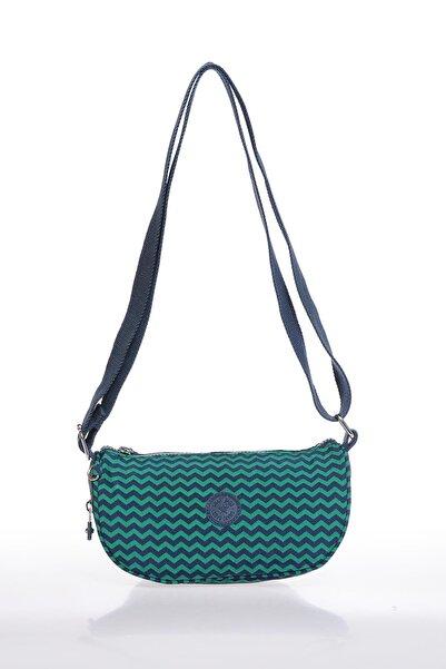 SMART BAGS Smb3026-0066 Lacivert/yeşil Kadın Çapraz Çanta