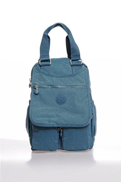 SMART BAGS Smbky1174-0050 Buz Mavi Kadın Sırt Çantası