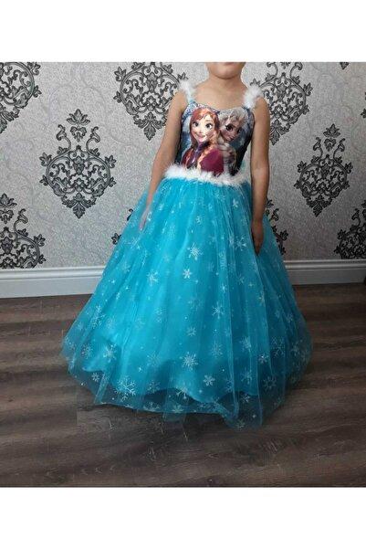 Bella Kız Çocuk Elsa Frozen Kostüm