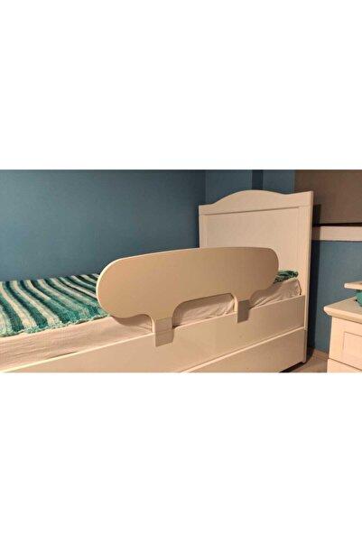 Derin Unisex Çocuk Beyaz Mobilya Yatak Bariyeri - Yatak Korkuluğu - Bebek Yatak Baza Bariyeri