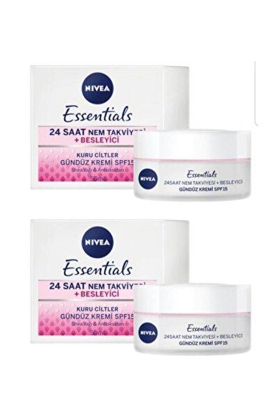 Nivea Essentials Besleyici Gündüz Kremi Kuru Cilt Spf15 50ml 2'li