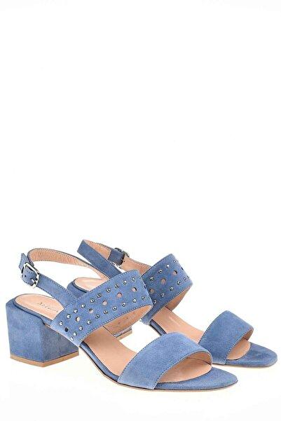 Mizalle Bantlı Süet Ayakkabı (Mavi)