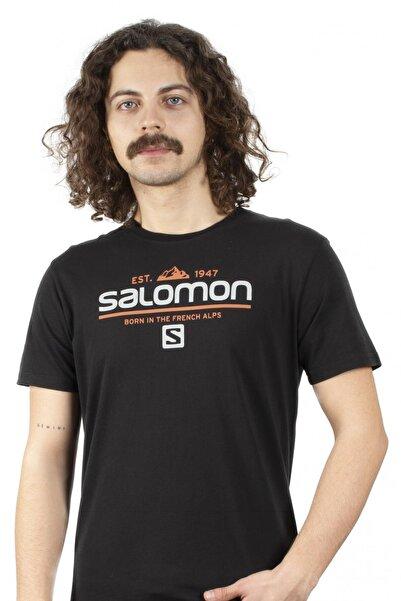 Salomon Siyah Erkek Tshirt - S20mwraıth Wraith Ss Tee