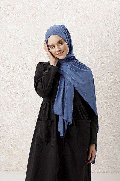 MUJERSCARFS Kadın Petrol Mavisi Penye Şal