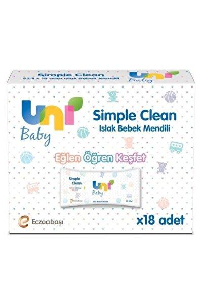 Uni Baby Islak Havlu Sımple Clean 52 Yaprak 18'li