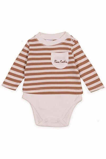 Pierre Cardin Baby Pierre Cardin Bebek Cepli Body Kahverengi Çizgili