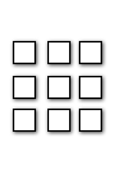 YED Frame Tablo Seti 9 Adet 20x20cm