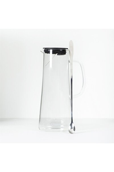 Chakra Beyaz Transparan Cam Sürahi 1500 ml