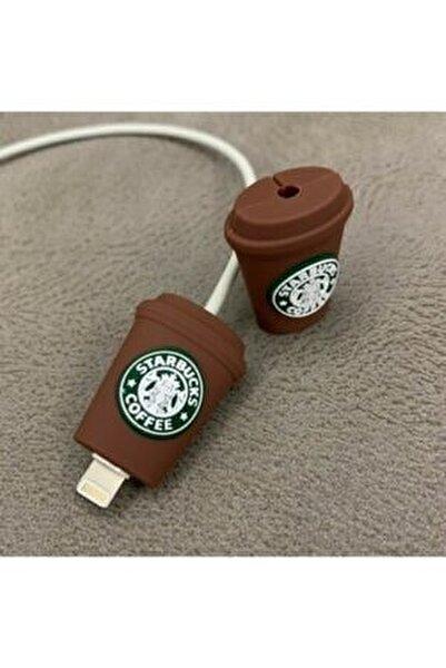 Şarj Aleti Kulaklık Için Starbucks Kablo Koruyucu