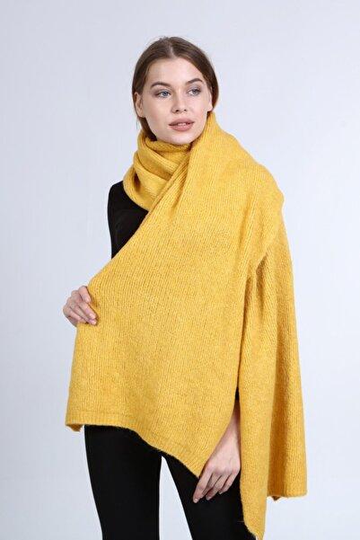 uniq store Kadın Sarı Uzun Atkı