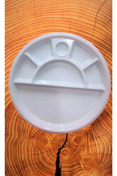 Evren Yuvarlak Bölmeli Thermo Melamin Kahvaltı Tabağı 30 cm 6 Bölmeli