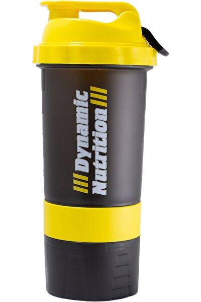 Dynamic Nutrition Siyah Sarı Dynamic 3 Hazneli Shaker 500 ml