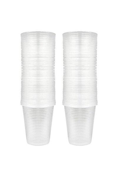 Lüx Plastik Plastik Büyük Bardak 100 Adet