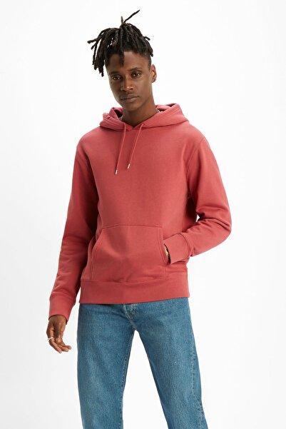Levi's Erkek Kırmızı Housemark Graphic Hoodie Sweatshirt 19491-0107