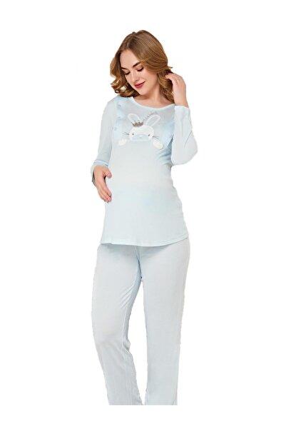 FLZ 24293 Kadın Kışlık Uzun Kol Lohusa Pijama Tak